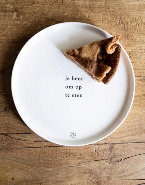 Zusss: Ontbijtbord met tekstje