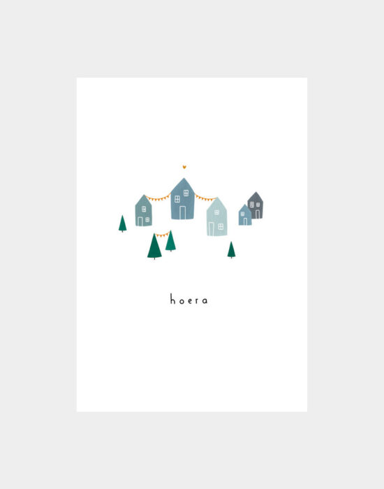Kaartje Klein liefs: Huisje