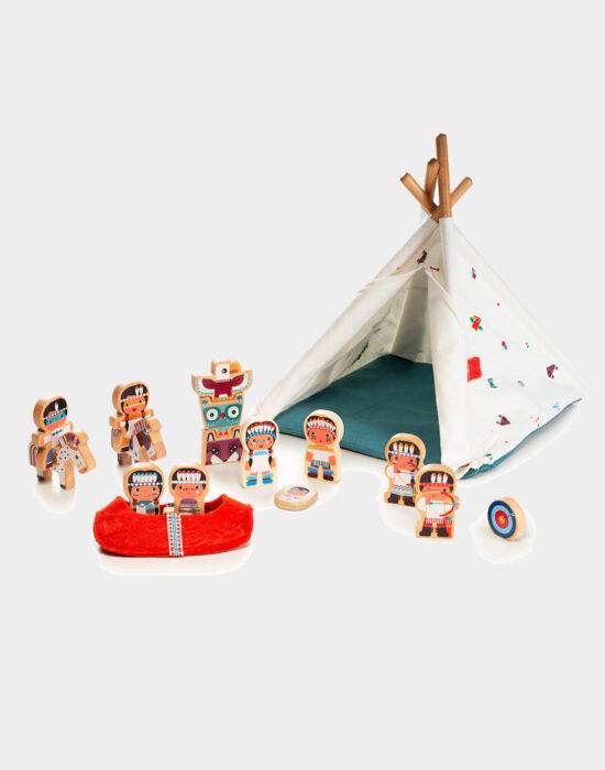 Lilliputiens: Tipi tent en indianen