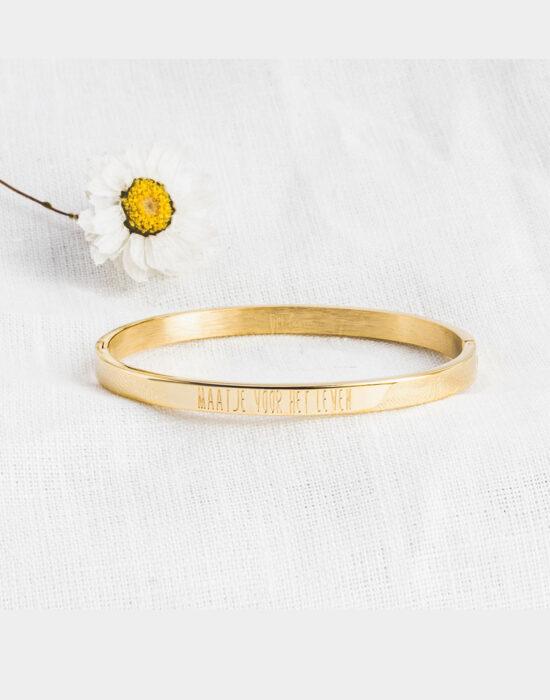 Lief Leven: Armband: Maatje voor het leven: goud/zilver