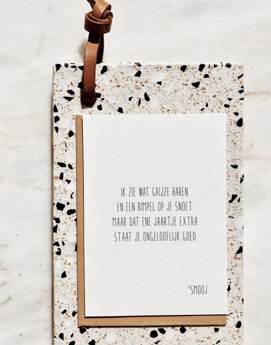 Gedichtje 'Smooj': Ik zie wat grijze haren