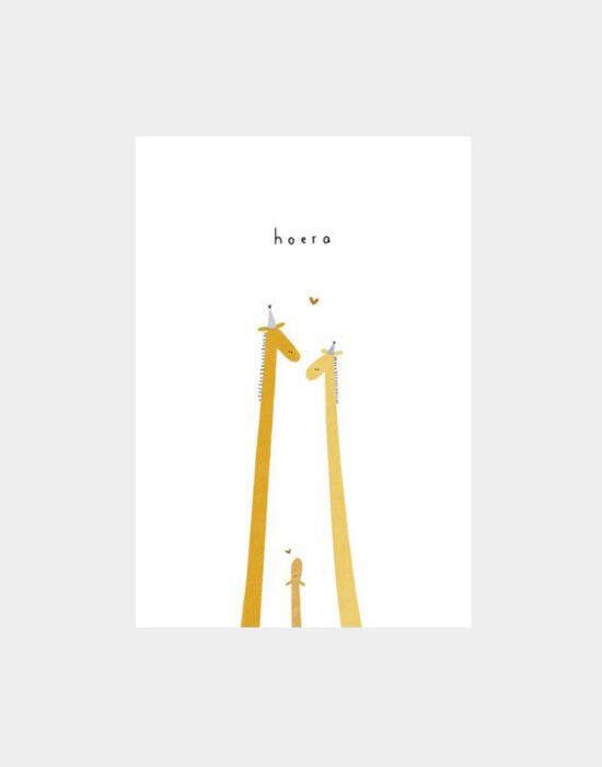 Kaartje Klein liefs: Hoera, giraf
