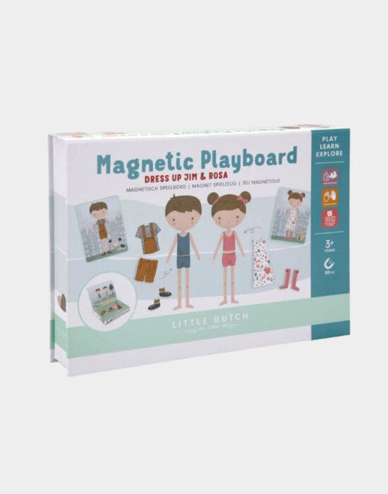 Little Dutch: Magnetisch speelbord Rosa en Jim